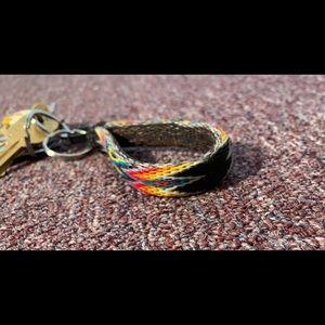 Handmade horsehair keychain